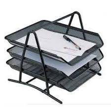 WIRE MESH DOCUMENT TRAY 3 TIER (12 PCS / BOX)