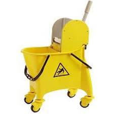 SINGLE MOP BUCKET TROLLEY WITH PROFFESIONAL WRINGER / 30 LITER