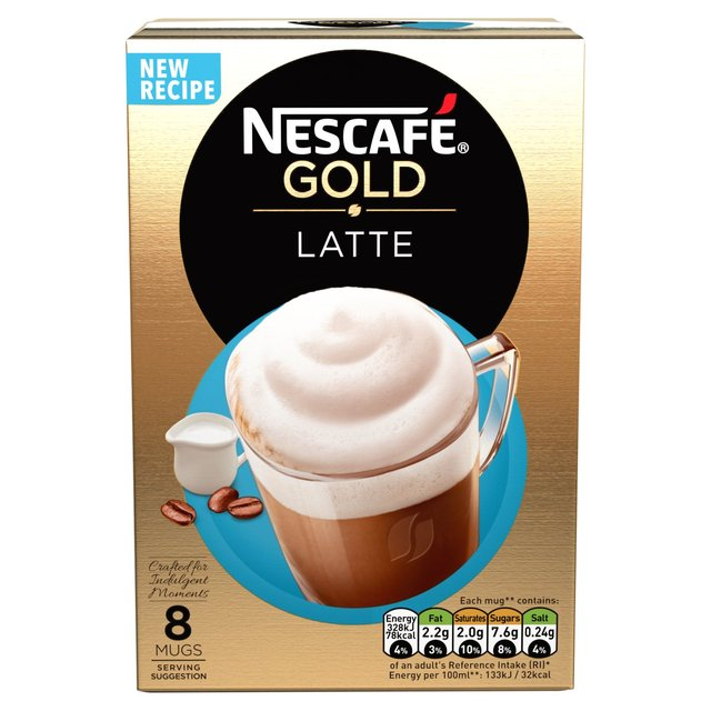 NESCAFE GOLD LATTE 8  X19.5 GM - PKT